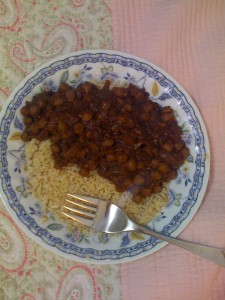 Punjab choley cooked by Matt Rouge